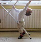 Fotogalerie capáčky Capáčková gymnastika u žehlícího prkna :-)