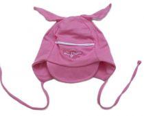 Bavlněná čepička - PEJSEK růžový