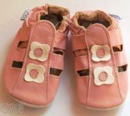Kožené capáčky - SANDÁLKY růžové CAPIKI