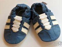 Kožené capáčky - TENISKY tmavě modré CAPIKI