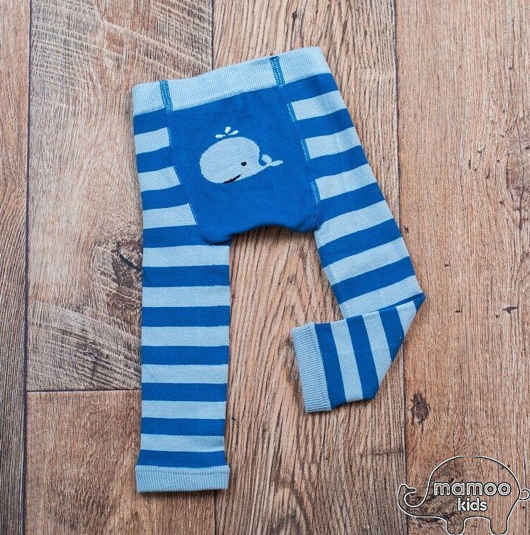 Dětské bambusové legíny - VELRYBKA modrá Mamoo Kids