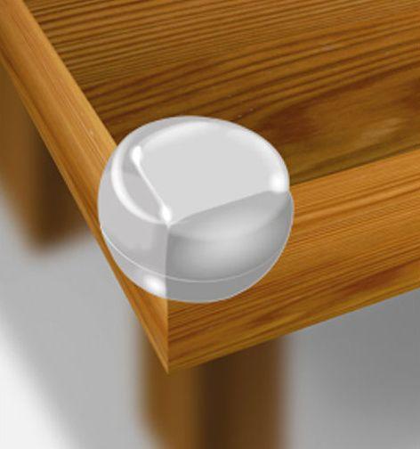 Ochrana rohů průhledné koule - sada 4 ks